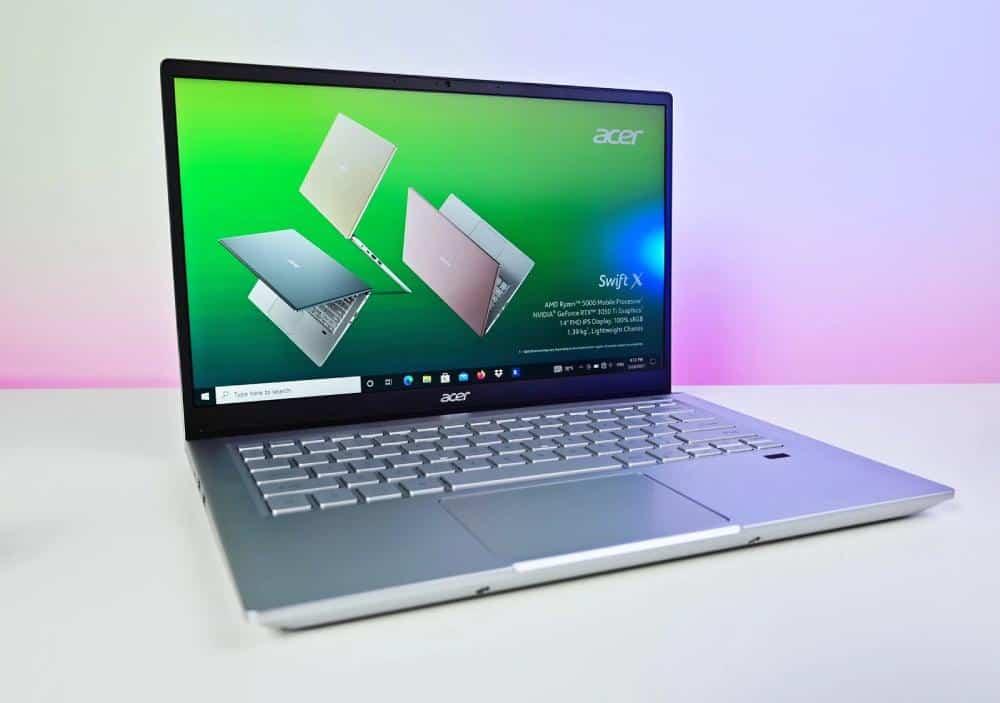 Acer Swift X 2021 RTX 3050 Ti